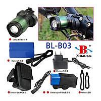 Фонарик для велосипеда аккумуляторный BL-B03A mini (S05238)