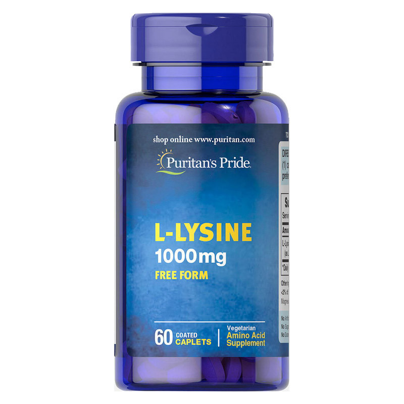 Лизин Puritan's Pride L-Lysine 1000 mg 60 таблеток (PUR1145)