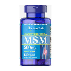 Метилсульфонилметан МСМ Puritan's Pride MSM 500 mg (120 капс) пуританс прайд