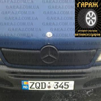 """Зимняя накладка Mercedes Sprinter CDI 2002-2006 На решетку радиатора Мат """"FLY"""""""