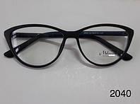 Имиджевые очки, модель 2040 цвет черный / синий, фото 1