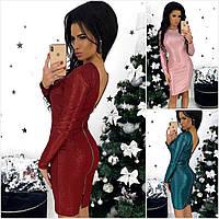 Р 42-46 Облягаючу сукню з вирізом на спинці 20709, фото 1