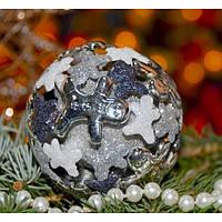 Елочная игрушка шар 3D - 209593