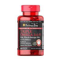 Витамины Puritan's Pride Maximum Strength Triple Omega 3-6-9 (60 капс) пуритан прайд омега 3-6-9