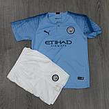 Детская футбольная форма Манчестер Сити №7 Рахим Стерлинг, фото 4