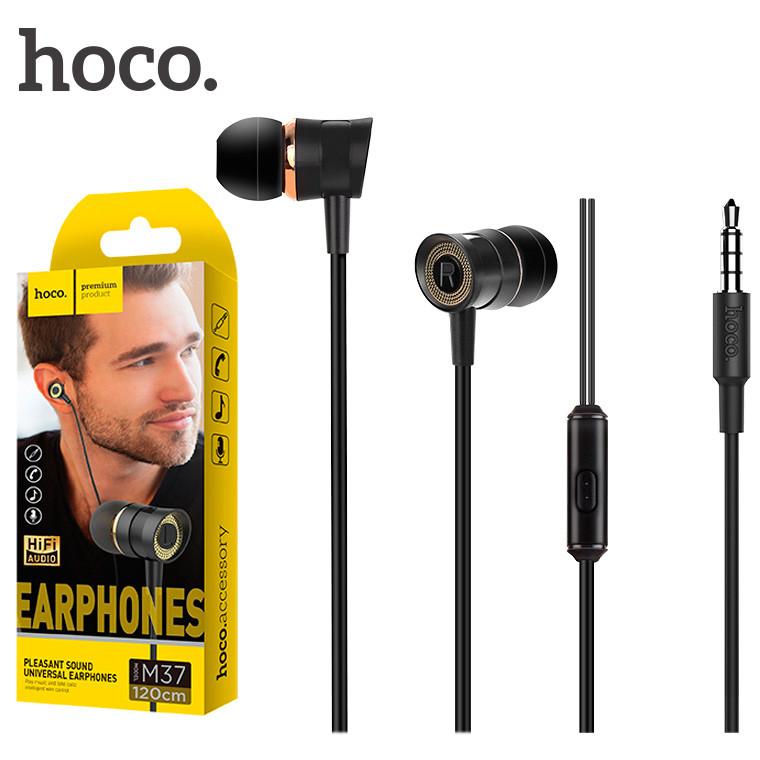 Наушники вакуумные HOCO M37 с микрофоном