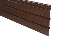Подшива, Софит - Панель Айдахо коричневая без перфорации 3,0м, 0,90 м2