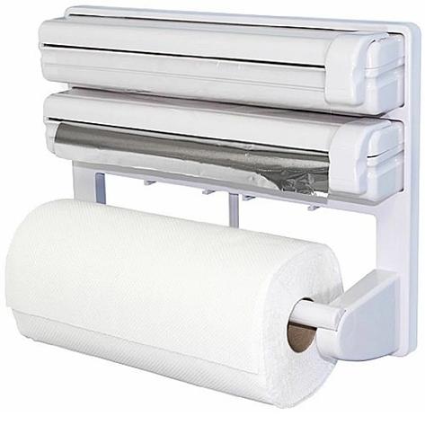 Кухонный диспенсер для пленки, фольги и полотенец Kitchen Roll Triple Paper dispenser, держатель для полотенец, фото 2