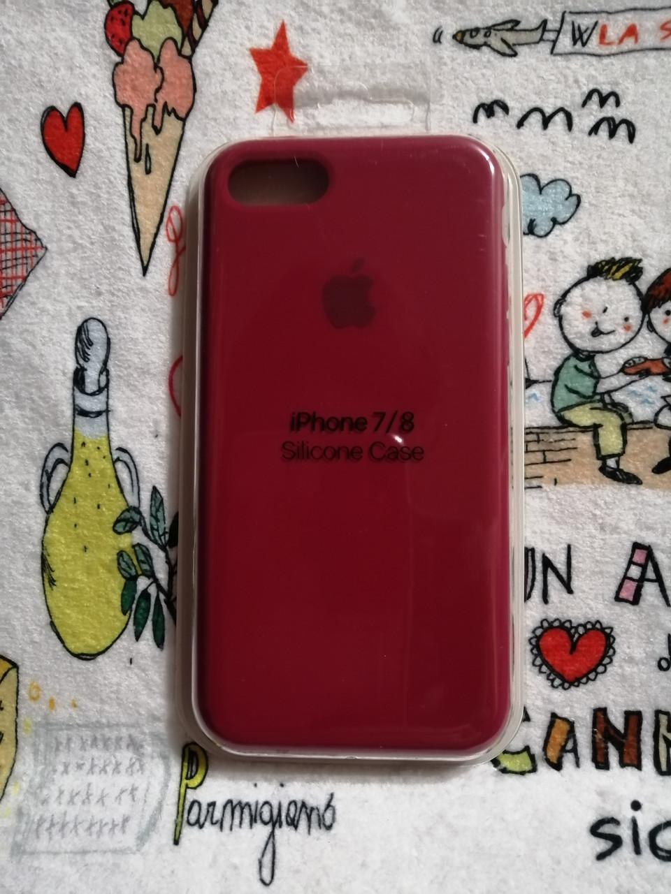 Силиконовый чехолApple Silicone CaseдляiPhone 7 / 8 - Color 18