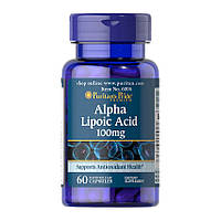 Витамины Puritan's Pride Alpha Lipoic Acid 100 mg (60 капс) пуритан прайд альфа липоик эсид