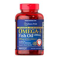 Рыбий жир Puritan's Pride Omega-3 Fish Oil 1200 mg Double Strength (90 капс) пуритан прайд омега 3 фиш оил