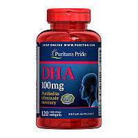 Витамины Puritan's Pride DHA 100 mg (120 капс) пуритан прайд дша