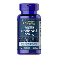 Витамины Puritan's Pride Alpha Lipoic Acid 300 mg (60 капс) пуритан прайд альфа липоик эсид