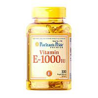 Витамины Puritan's Pride Vitamin E-1000 IU (100 капс) пуритан прайд витамин