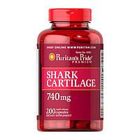 Для суставов и связок Puritan's Pride Shark Cartilage 740 mg (200 капс) пуритан прайд шарк картилаг