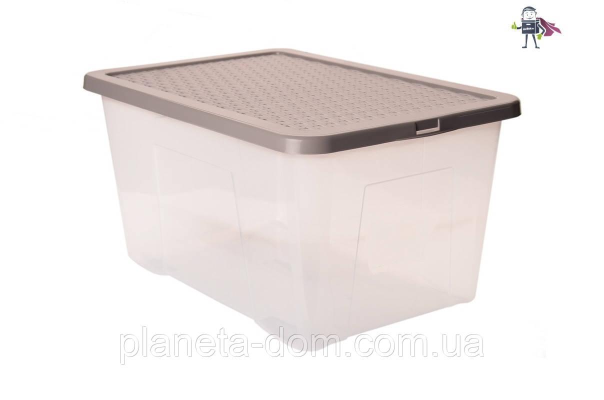 Ящик пластиковый с крышкой 50л, Heidrun R-BOX 60х40х26см