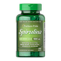 Пищевая добавка Puritan's Pride Spirulina 500 mg (200 таб) пуритан прайд спирулин
