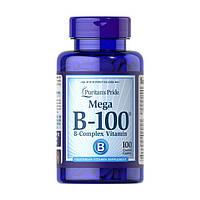 Комплекс витаминов группы Б Puritan's Pride Mega B-100 (100 капс) пуританс прайд