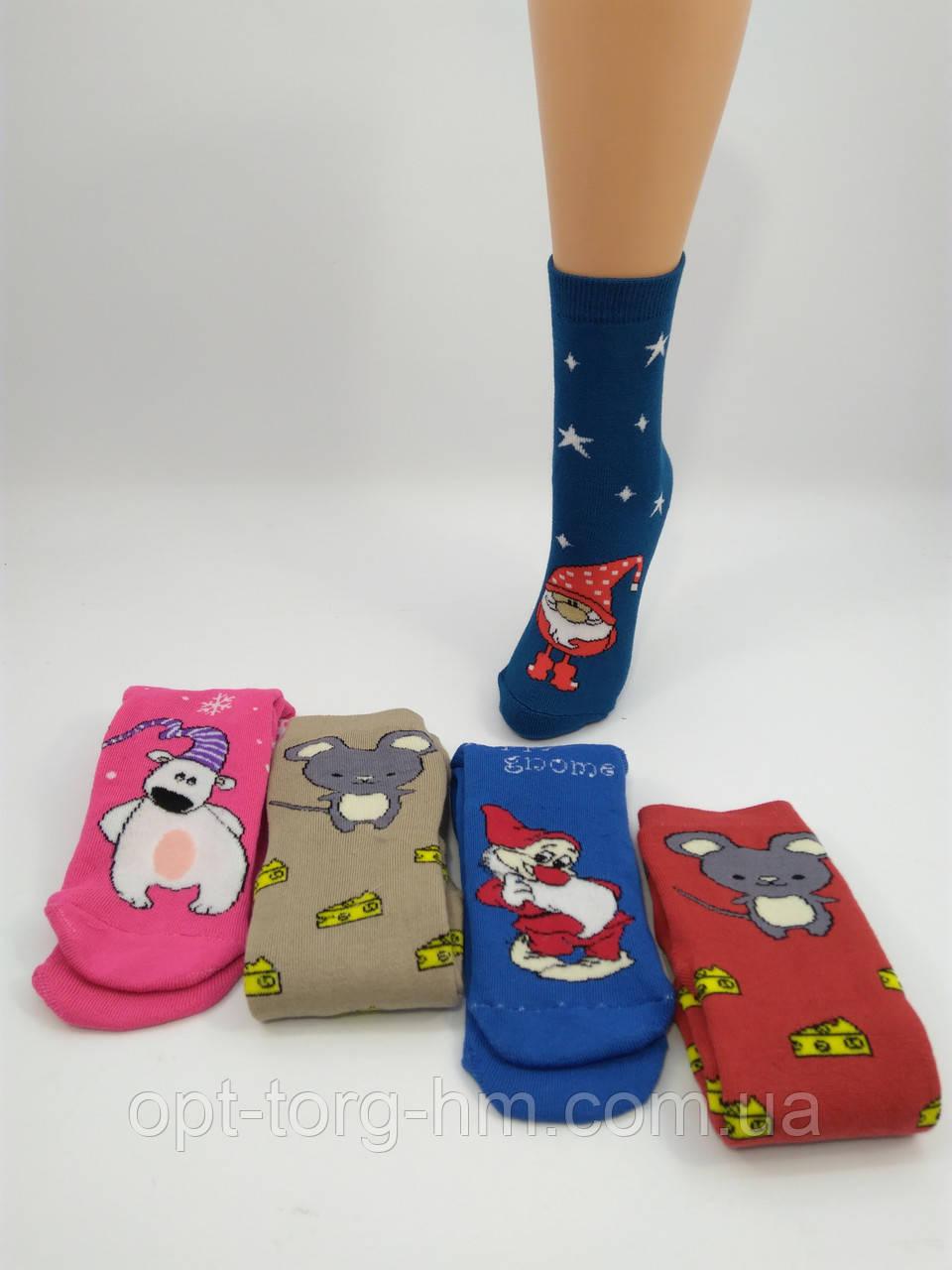 """Махровые женские носки """" PVS"""" Новогодний микс. Размер 35-41 обувь"""