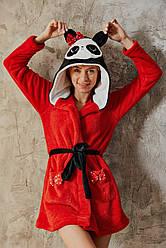 Теплый веселый халатик для девушки. FEYZA.3558.Турция