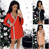 Р 42-48 Нарядное платье-пиджак с украшением 20713, фото 1