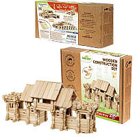 Деревянный конструктор Въездные ворота на 296 деталей