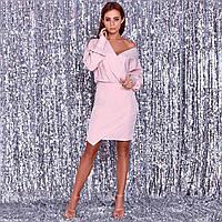 Жіноча сукня бежево-рожеве, фото 1