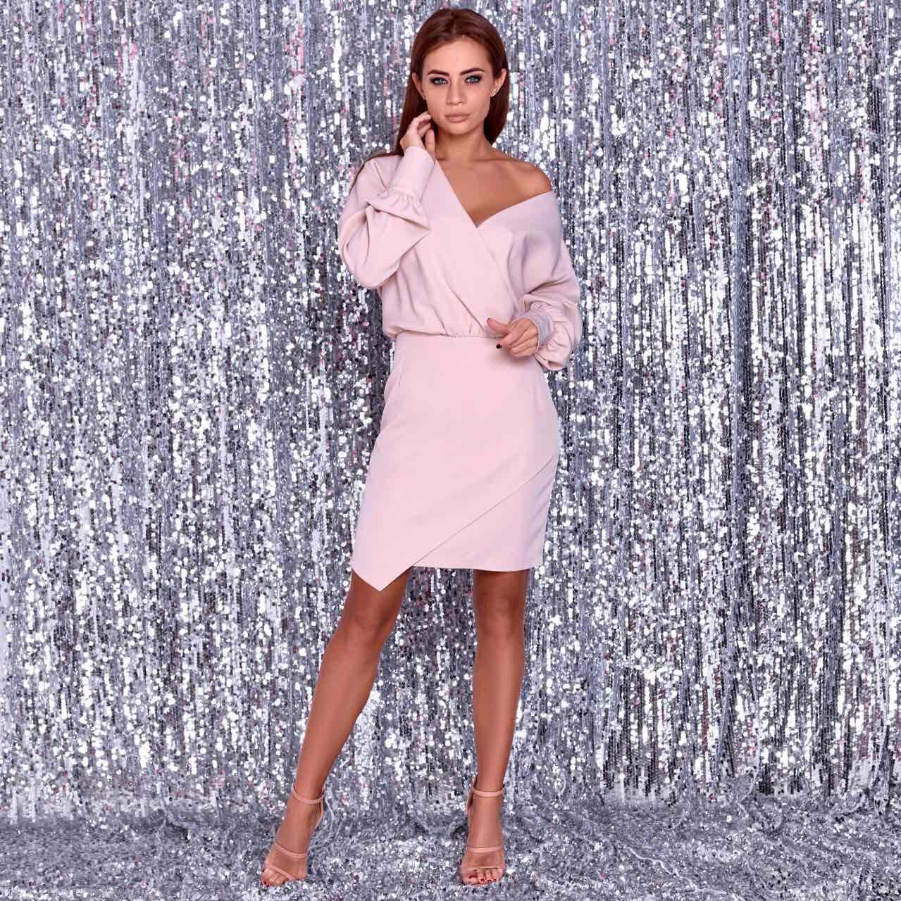 Жіноча сукня бежево-рожеве