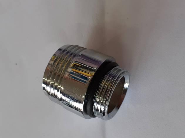 Футорка гусака (крупная резьба) латунь М22, фото 2