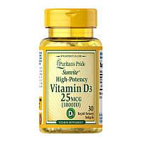 Витамины и минералы Puritan's PrideVitamin D3 1000 IU(30 капс) пуритан прайд витамин д3