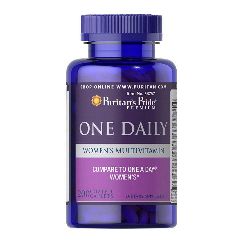 Витамины для женщин Puritan's Pride One Daily Women's Multivitamin (200 капс) пуританс прайд