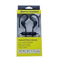 Беспроводные Спортивные Bluetooth Наушники с микрофоном Черный
