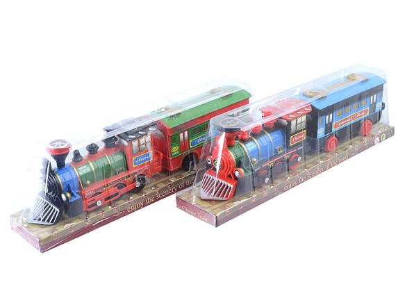 Поезд батар с вагоном, 2 вида, в кор. 40,5*8*11,5см /96-2/, фото 2