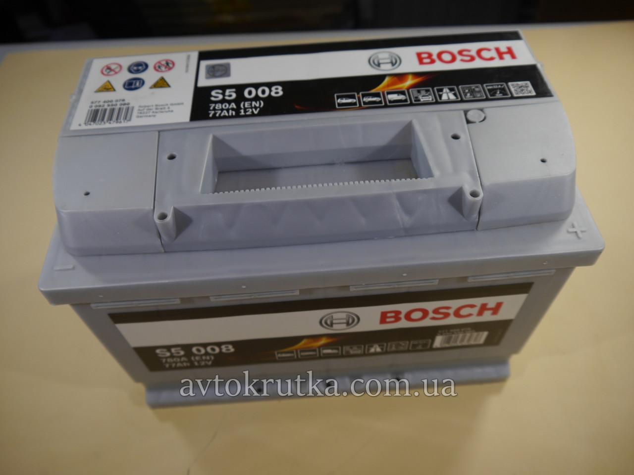 Аккумулятор Bosch S5 008 Silver Plus 77Ah 12V