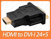 Переходник HDMI to DVI-I 24+5