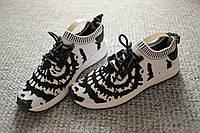 Женские кроссовки чернобелые с трикотажным верхом Nmd Runner 38-39