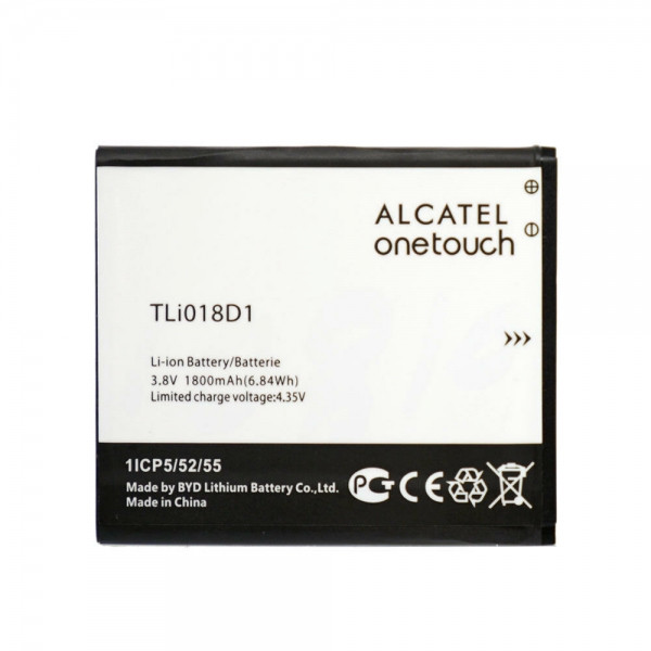 Аккумулятор для Alcatel OT Pop D5 5038D / TLi018D1, 1800 mAh Оригинал