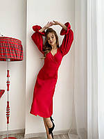 Женское платье вечернее крепдиагональ до 54 размера красный/черный/белый/электрик/изумруд