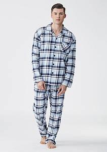 Фланелева чоловіча піжама KEY MNS-046 розмір L