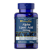 Альфа-липоевая кислота Puritan's Pride Alpha Lipoic Acid 300 mg (60 капс) пуританс прайд