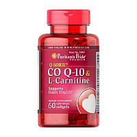 Карнитин Puritan's Pride CO Q-10 & L-Carnitine (60 капс) пуританс прайд