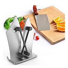 Точилка для ножей Bavarian Edge Knife Sharpener настольная, ножеточка, цвет серебристый, фото 3