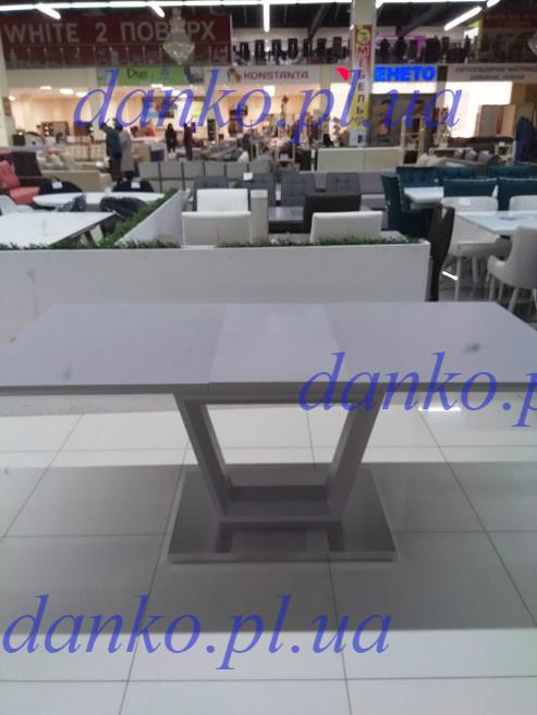 Раздвижной стол ТММ-51 матовый серый 140/180 от Vetro Mebel