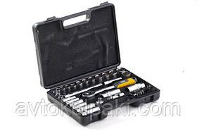 Набір насадок (інструментів) торцевих c тріскачкою CrV 3/8 (40 шт.) СИЛА