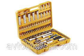Набір насадок (інструментів) торцевих c тріскачкою стандарт CrV 1/4, 1/2 (108 шт.) СИЛА