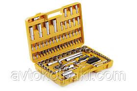 Набір насадок (інструментів) торцевих c тріскачкою стандарт CrV 1/4, 1/2 (94 шт.) СИЛА