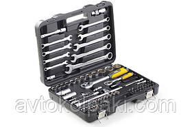 Набір насадок (інструментів) торцевих з тріскачкою CrV 1/4, 1/2 і ключів CrV (82 шт.) СИЛА