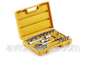 Набір насадок (інструментів) торцевих з тріскачкою стандарт CrV 1/2 (22 шт.) СИЛА