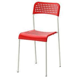 IKEA ADDE Стілець, червоний, білий (902.191.84)
