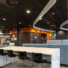 Акустическая влагостойкая черная гладкая плита Rockwool Rockfon Industrial Black 600x600x25 мм